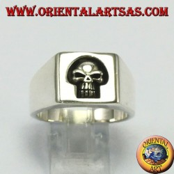 Silver ring seal, uncladed skull