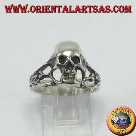 Silver skull ring, the underworld