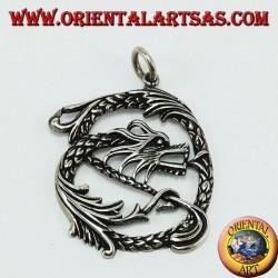 Infinity Dragon pendant silver