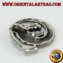 Silver spiral dragon pendant,