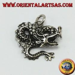 Colgante de plata, dragón retorcido