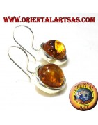 925 ‰ silver earrings with Baltic amber