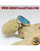 B. Opale, perles et quartz rose