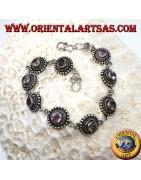 Bracelets en argent 925 ‰ avec pierres précieuses naturelles
