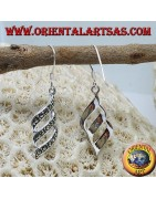 Silver earrings with marcasite