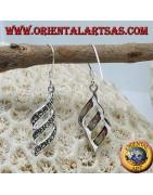 Orecchini in argento con marcasite