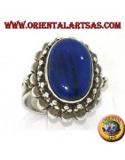 Silver rings with lapis lazuli