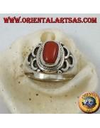 Anelli in solido argento 925‰ con Corallo