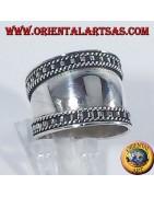 Anelli in argento 925 ‰ fascioni lavorati con altezza costante o crescente